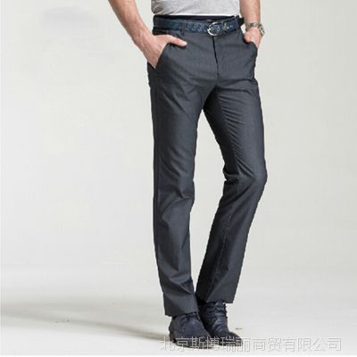 夏装新品2014男装男裤时尚简约休闲直筒休闲裤