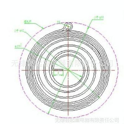 供应加工定做电缆卷筒专用涡流发条弹簧
