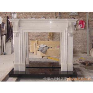 出口欧洲简约大理石壁炉(simple fireplace)
