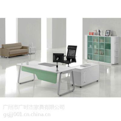 广时杰厂家直销 简约现代 板式组合 钢架桌大班台 办公家具 办公主管经理老板桌