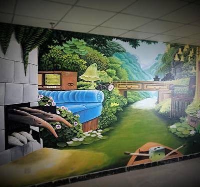 供应抚州南丰资溪宜黄广昌崇仁乐安手绘墙画彩绘墙绘涂鸦壁画制作!