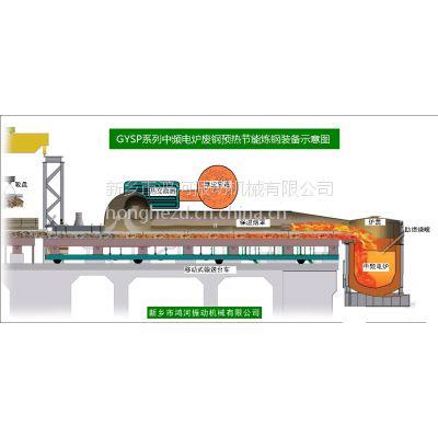 鸿河机械供应GYSP中频炉废钢预热步进输送装置