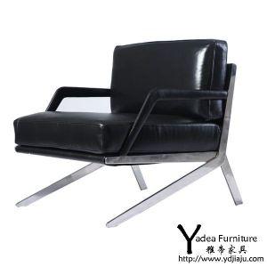 供应DS-60扶手椅 深圳皮质椅子 现代休闲家具 创意型椅子