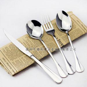 供应高档加厚不锈钢西餐具 餐厅酒店主餐牛排刀叉勺三件套 揭阳市餐具厨具厂家