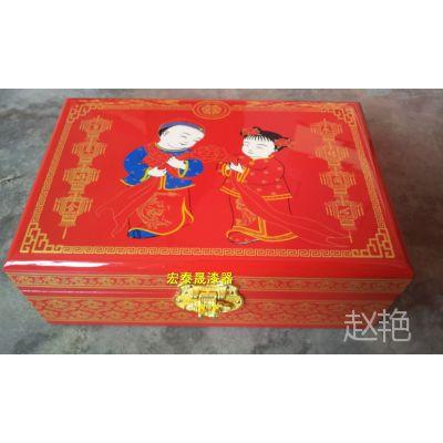 宏泰晟平遥推光漆器厂家直销化妆品包装盒  首饰盒    梳妆盒