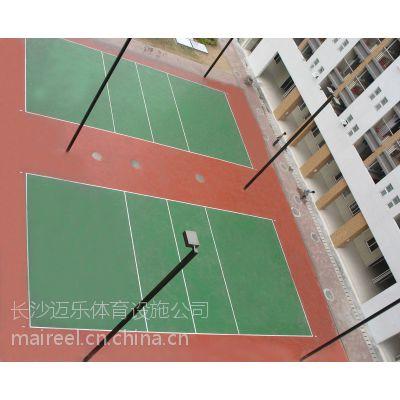供应湖南邵阳岳阳吉首张家界硅pu排球场硅pu球场塑胶球场