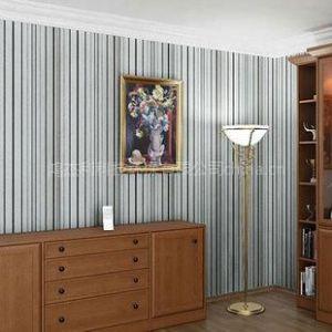 供应卧室背景墙简约竖条纹CA05 320301书房壁纸