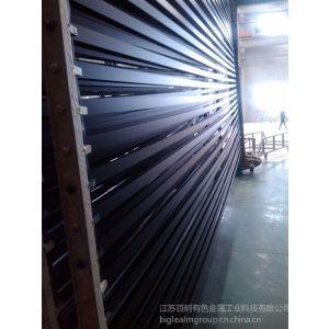 供应消光电泳黑色太阳能边框铝型材 挤压加工 批发