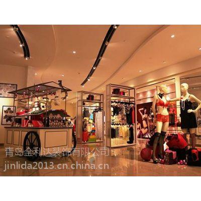 青岛内衣店装修 青岛内衣店展示柜设计制作 青岛专业做内衣展柜的厂家