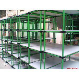 供应柳州地区柔性 易拆卸 承重力大的精益管货架生产厂家