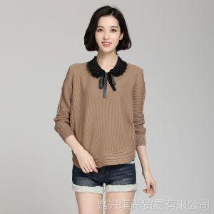 供应2013韩版春秋装新款女装宽松显瘦套头 低领打底衫毛衣 现货批发