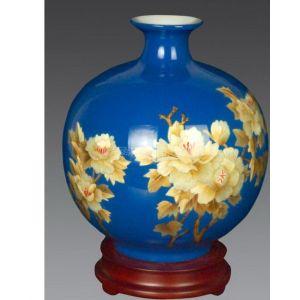 供应景德镇陶瓷花瓶/纯手工麦杆画制作陶瓷花瓶