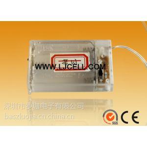 供应5号3节装电池盒白色带开关 带盖 带线