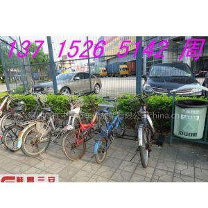 自行车道边安放自行车停车架,实用的自行车存车架