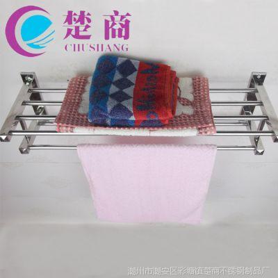 厂家直销 不锈钢浴巾架 浴室毛巾杆 浴室五金挂件 酒店工程必备