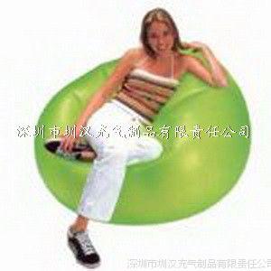 专业生产厂家直供pvc充气沙发 植绒沙发 可来样定制加印Logo