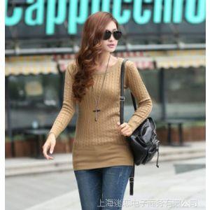 供应厂家直销 2013秋装新款麻花低领打底衫针织衫线衫套头毛衣1046xd