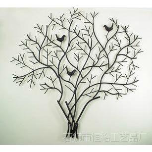 铁艺创意铁艺装饰 工艺品树型壁饰 壁景 客厅墙饰 田园装饰画图片