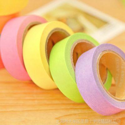 清新可爱糖果色 手撕彩色日韩文具纸胶带可写字 DIY装饰