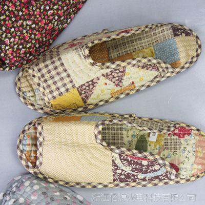 厂家出售 精美家用室内秋冬布艺拖鞋 价格优惠
