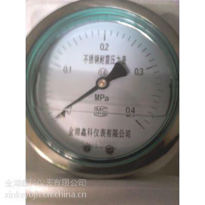 供应YN-系列不锈钢耐震压力表