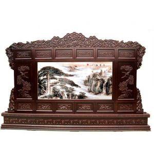 供应古典家具屏风,木雕屏风,古典类彩雕工艺木雕屏风