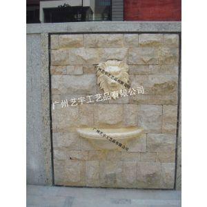 供应人造砂岩浮雕 人造流水墙喷泉 砂岩柱墩