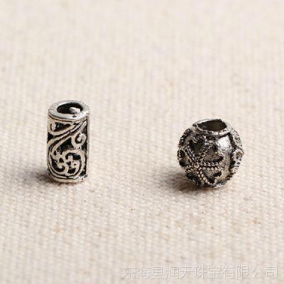 晶奇石珠宝 天然手链手工DIY配件藏银古银隔珠饰品串珠材料批发