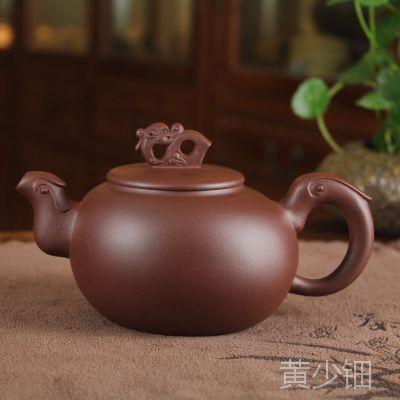 国家工艺美术师紫砂壶 高档名家紫砂茶壶飞鸟300毫升 混批