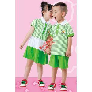 供应新款幼儿园夏季礼服22813AB巴迪小虎园服定做