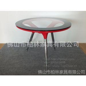 供应方向盘餐桌  方向盘玻璃钢茶几   玻璃钢材质