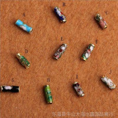 手工DIY配件 景泰蓝柱形隔珠饰品串珠材料批发