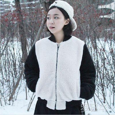 2014秋冬新款3191#女装好搭配保暖范儿 时尚可爱甜美毛绒外套