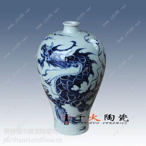 供应青花仿古花瓶 高档收藏花瓶