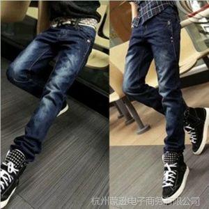 供应新款男士潮流牛仔裤 韩版修身男款小脚牛仔裤 男士牛仔长裤