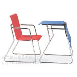 格友家具厂家直销可当桌子又可当椅子的塑料桌椅两用多功能会议椅培训椅
