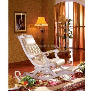 供应欧式新古典实木摇椅,休闲椅