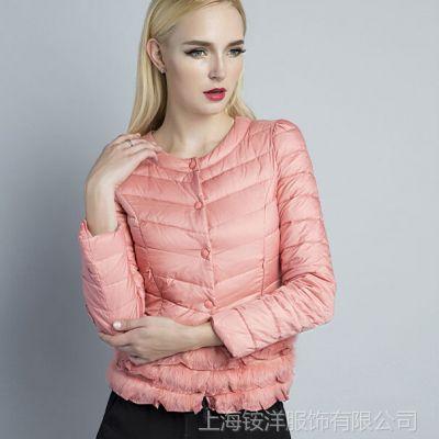 批发冬装新款欧洲站羽绒服 高端品牌短款羽绒衣服女款一件代发