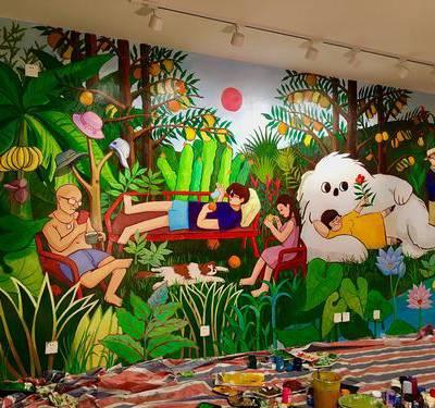 供应江西吉安 新干 峡江 井冈山 万安 吉水 泰和文化墙彩绘 手绘 绘画 制作
