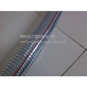"""供应PVC 1"""" 红蓝双线条钢丝管"""