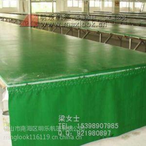 供应东莞印花台皮加工-绿色印花台皮-台板胶