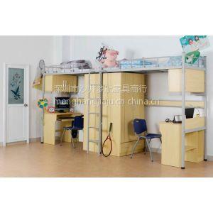 供应梦航家具厂价直销学校铁床上下双层铁床高低双层铁床