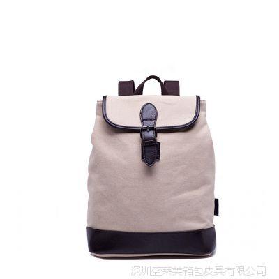 深圳龙岗箱包厂家 日系韩版帆布女包 双肩书包  盖式背包