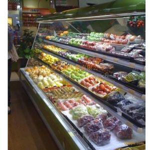 供应蔬菜水果保鲜柜||绿色水果保鲜展示柜价格