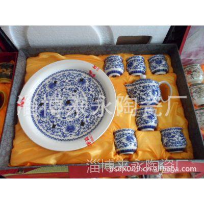 供应陶瓷礼品套装茶具 定做陶瓷促销茶具 青花瓷套装礼品茶具