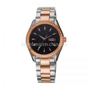 供应金属手表 金属腕表 日历手表 女手表镶钻 手表批发厂家