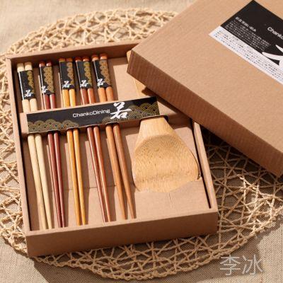 厂家供应 原木筷子组合礼盒套装  日式餐具