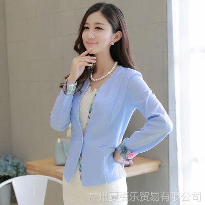 【下架】品牌女装韩版修身ol风一粒扣新款小西装女式西服外套女秋