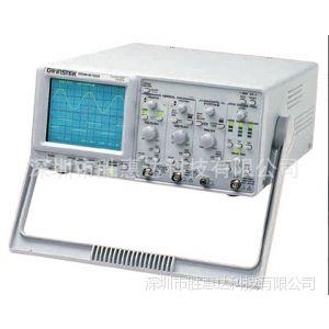 供应固纬频宽 100 MHz 双频道GOS-6103模拟示波器