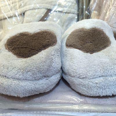 九之美 12690棉拖鞋 超细纤维舒适亲肤 防滑颗粒 灰咖两色